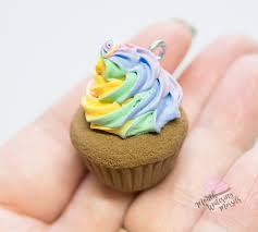 Chocolate Cupcake With Swirly Unicorn Rainbow Frosting Handmade