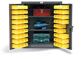 2 shelf countertop bin storage cabinet 52 bins 36 x 24 x 42 in