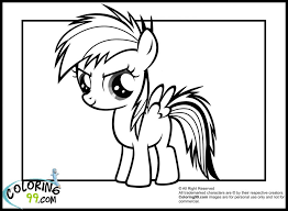 Small Picture Coloring Pages Rainbow Dash Coloring Pages Team Colors Rainbow