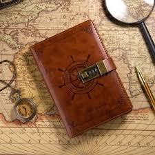 reisetagebuch vintage notizbuch tagebuch pu reisetagebuch leder 112 blatt mit code