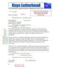Business Letter Formatting Example