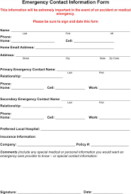 In Case Of Emergency Form For Employees Download Emergency Contact Form For Free Formtemplate