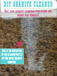 Care Of Granite Kitchen Countertops Diy Granite Cleaner