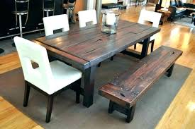 wooden table and bench long wooden table long wood table dining room sets with bench fancy