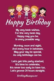 birthday poems heartfelt humorous