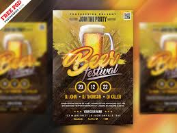 Basic Flyer Template Beer Festival Flyer Template Psd By Psd Freebies On Dribbble