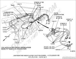 ford truck technical drawings and schematics section i distributor vacuum hoses 8 cylinder 302