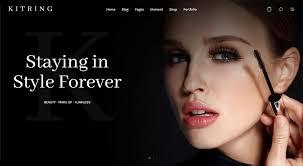 portfolio kitring makeup artist wordpress theme