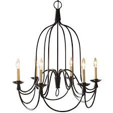 armonk 6 arm chandelier by amonson lighting