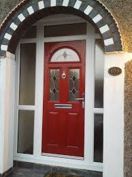 1930s style composite door with glass