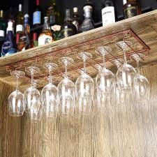 solid wood wine glass holder wine rack bar counter bar wine glass holder goblet hanger red