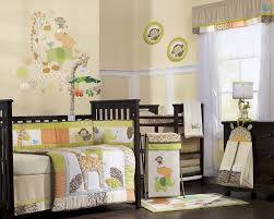 Safari Baby Rooms : Baby Nursery Room Decoration With Black Crib And Cozy  Bedding Also Cabinet