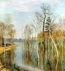 Сочинение описание картины И Левитана Весна Большая вода