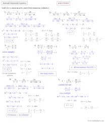 solving rational equations worksheet algebra 1 tessshlo