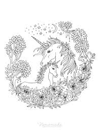 These beautiful creatures set the mind on fantasy and dreaming. 75 Magical Unicorn Coloring Pages For Kids Adults Free Printables