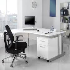 white wood office desk.  Office Furniture Corner White Office Furniture With A Computer Desk And Black  Chair  Walnut For Wood S