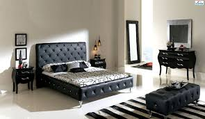 contemporary leather bedroom furniture. Made In Spain Leather Luxury Modern Furniture Set With Tufted Upholstery Bed Lubbock Texas ESFNELLY Contemporary Bedroom U