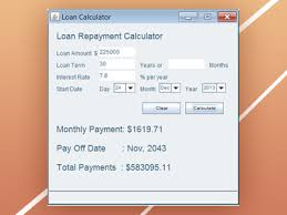 Java Loan Calculator Loan Calculator Code Business Loan Calculator