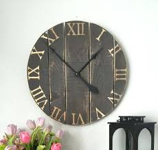 oversized wooden clock in wall clock large wall clock rustic wall clock wood clock oversized wall