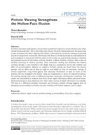 We did not find results for: Pinhole Viewing Strengthens The Hollow Face Illusion Topic Of Research Paper In Psychology Download Scholarly Article Pdf And Read For Free On Cyberleninka Open Science Hub