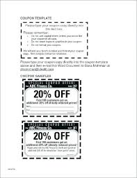 10 Off Coupon Template Pages Coupon Template 10 Budget Spreadsheet