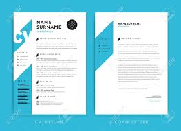 Creative Cv Or Resume Template Blue Background Color Minimalist