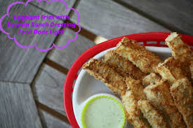 even my kids loved them eggplant fries with boursin ranch dressing low calorie low