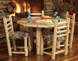 log rustic furniture amish. Log-Kitchen-Tables-Gallery-And-Custom-Dining-Room- Log Rustic Furniture Amish
