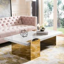 White marble table top Modern Kuhl Marble Coffee Table Chairish White Marble Table Top Wayfair