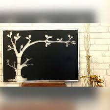 black tree silhouette wall art
