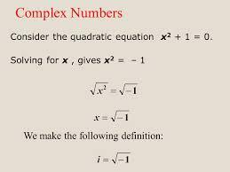 consider the quadratic equation x 2 1 0