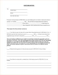 eviction notice template examples shopgrat sample it