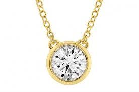 18k yellow classic bezel diamond