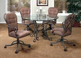 dining chairs on wheels. Kitchen Table Sets With Caster Chairs Of Dining Room On Wheels Inspirations A