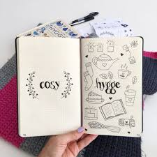 monthly drawing prompts for bullet journaling hygge ilrations