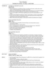 Data Security Analyst Resume Samples Velvet Jobs