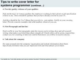 Brief Cover Letter Examples Programmer Cover Letter Example 4 Tips