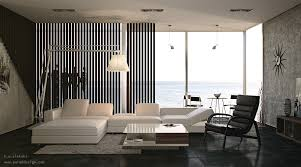 Living Room  Contemporary Elegant Black And White Interior Living - Interior for living room