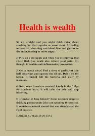 health essays