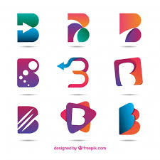 abstract letter b logo collecti 23