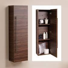 walnut wall mounted storage unit