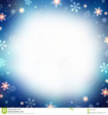 Christmas Snowflakes Background Snowflakes On Blue Blurred Frame