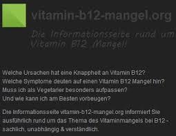 » Nebenwirkungen - Vitamin B12