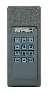 linear 4200 multi code keypad garage or gate remote 420001 mcs420001 keyless entry