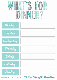 meal planning printables thermomix recepes say whaaat meal planning printables