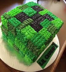 Creeper Cake Design Minecraft Creeper Cake Minecraft Birthday Cake