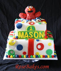 1st Birthday Elmo Bursting Out Of A Cake Smash Cake