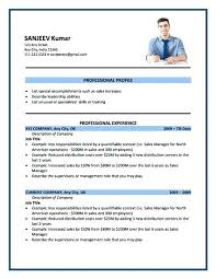 Resume Format For Job Stunning Resume Format For Job Best Format For Job Sample Resume Job
