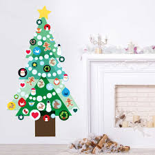 Christmas Decorations For The Wall Decorate Your Own Christmas Tree Wall Decal Kit Christmas