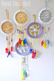 paper plate crafts for kids make super cute dream catchers with heart star details